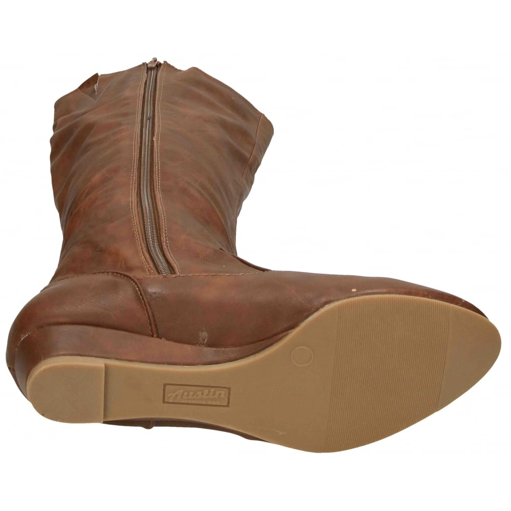 trading co flat knee high wedge heel boots semi
