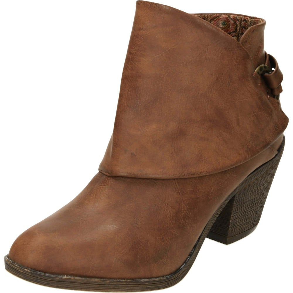 641b9aca85d2 Blowfish Super Duper Heeled Cowboy Ankle Boots - Ladies Footwear ...