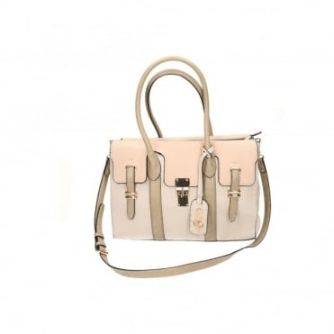 Beige Shoulder Tote Hand Bag