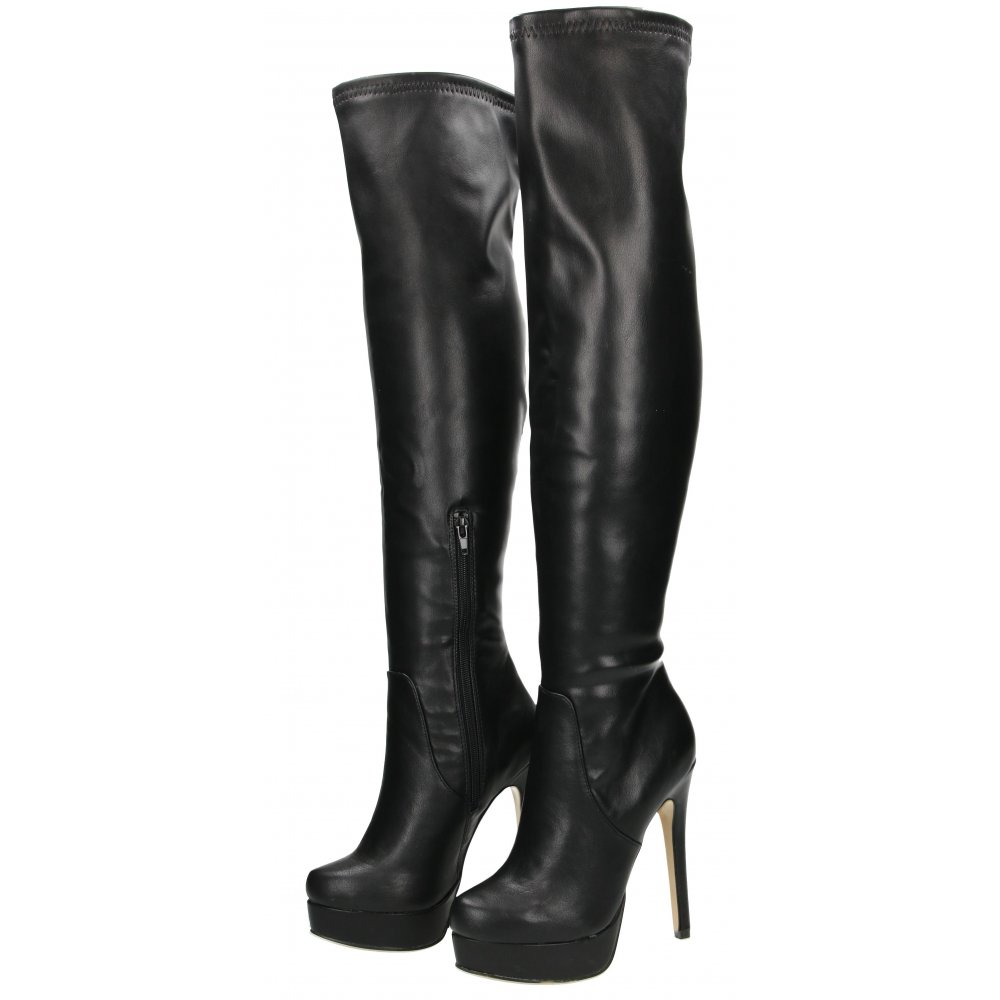 Chinese Laundry Over The Knee Boots High Heel Stiletto Platform ... b386710a3cb7