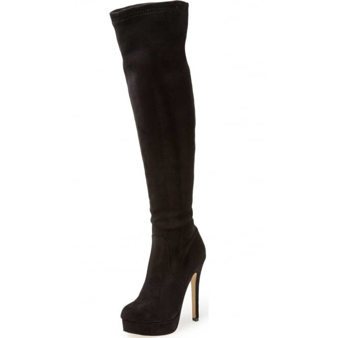 Chinese Laundry Over The Knee Boots High Heel Stiletto Platform Suede Style