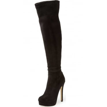 Over The Knee Boots High Heel Stiletto Platform Suede Style