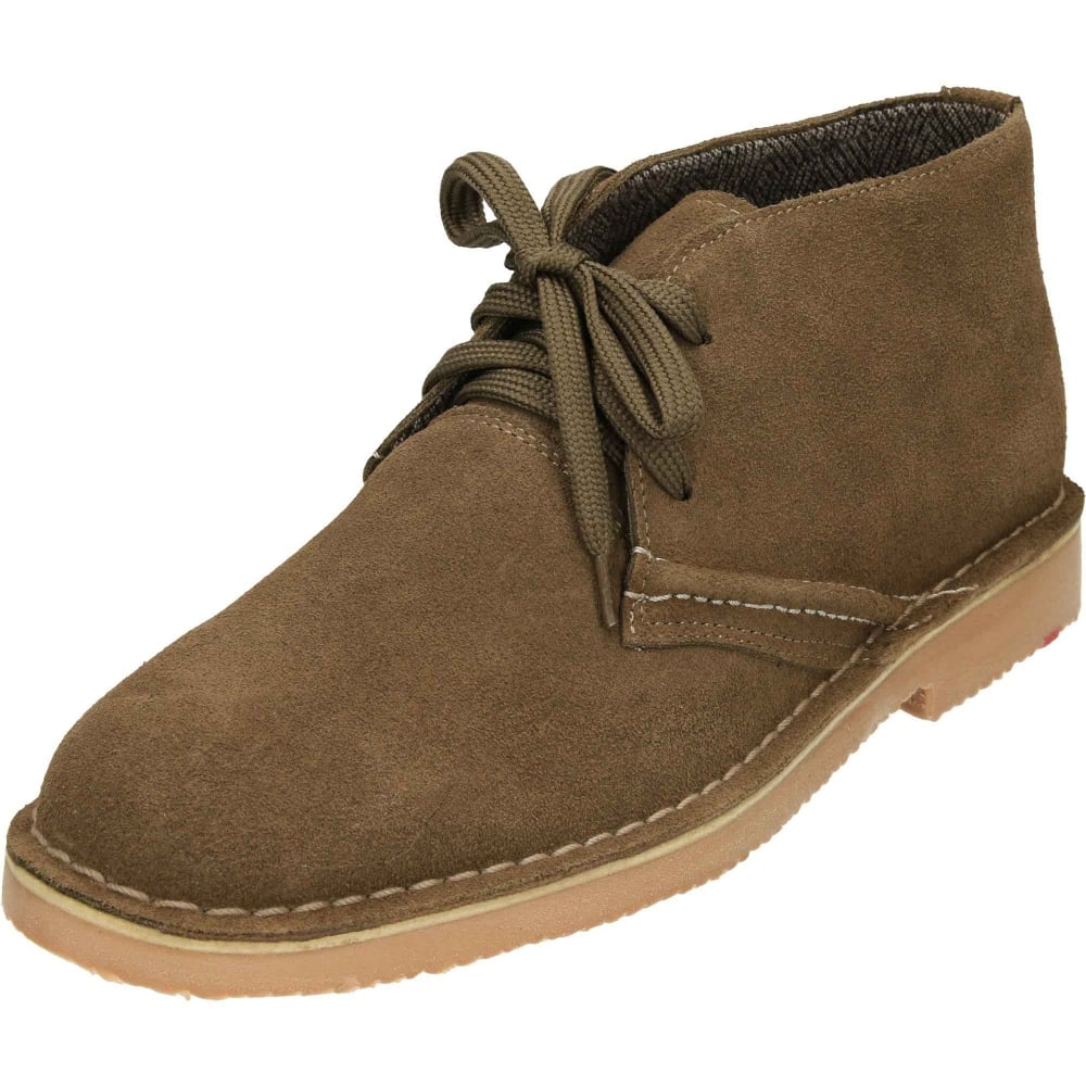 6b44f1a677f Classic Lace Up Suede Leather Desert Boots Brown