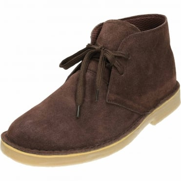 Suede Leather Lace Up Desert Boots