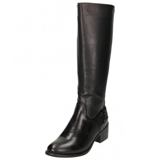 Claudia Ghizzani Stretchy Knee High Mid Heel Riding Boots