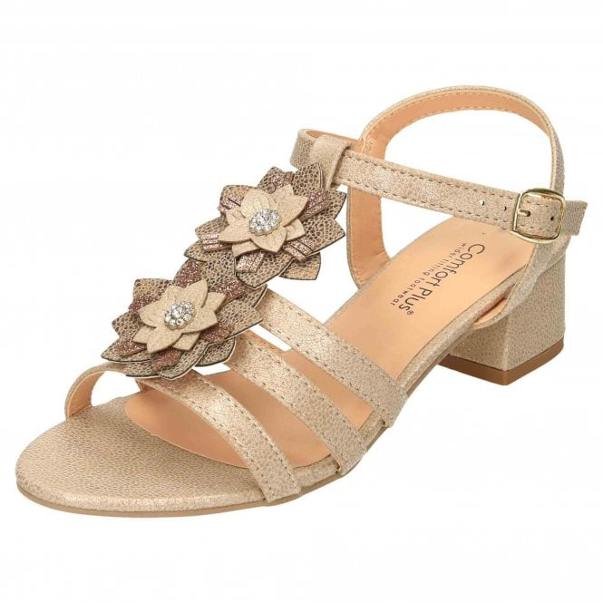 Comfort Plus Wide E Fit Slingback Low Heel Strappy Sandals