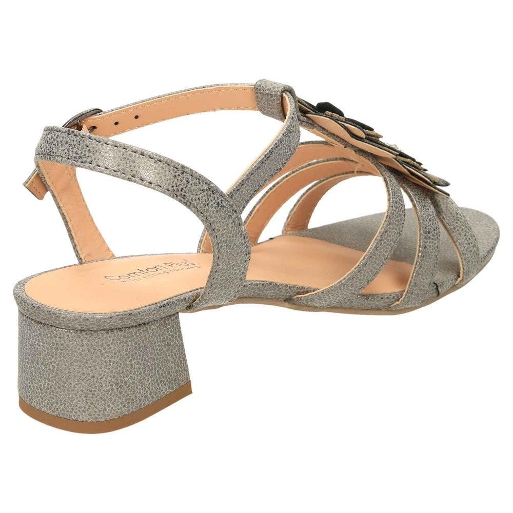 0fdfa4d81 Comfort Plus Wide E Fit Slingback Low Heel Strappy Sandals - Ladies ...