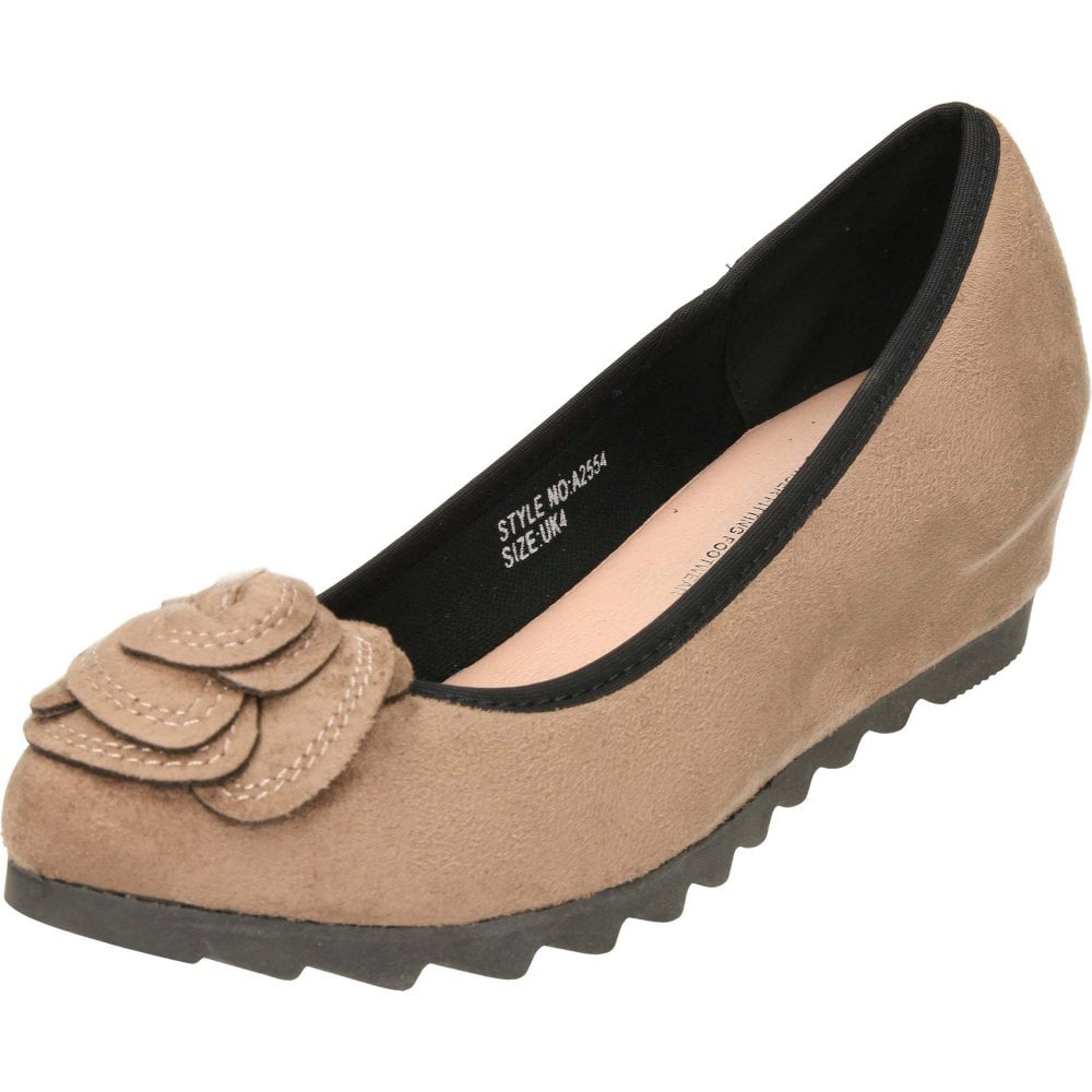71a2e1870 Comfort Plus Wide Fit Concealed Wedge Suede Style Shoes - Ladies ...