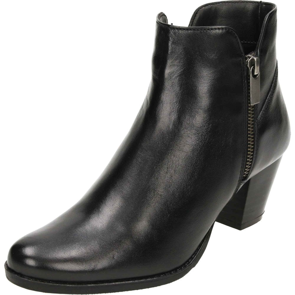 Comfort Plus Wide Fit Leather Heeled