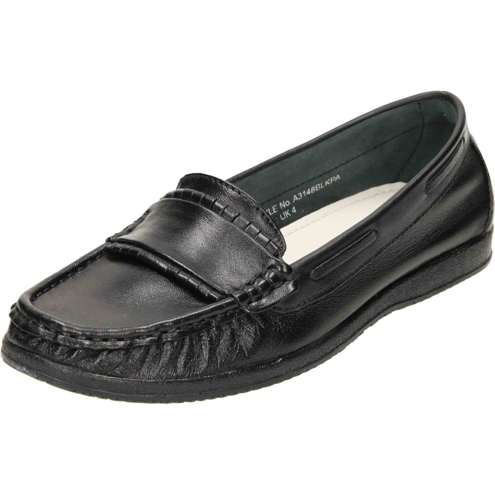 bd5fe1ba2fd Comfort Plus Wide Fit Leather Loafer Moccasin Shoes - Ladies ...