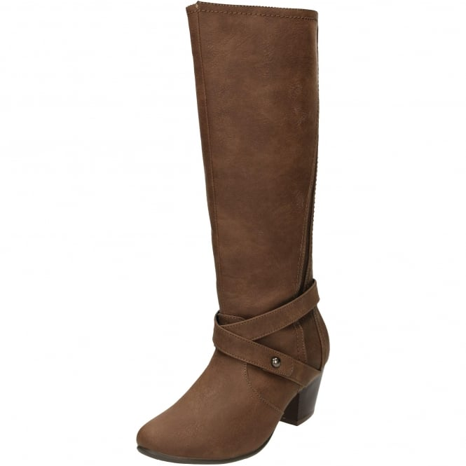 Comfort Plus Wide Fitting Stretchy Block Heeled Boots
