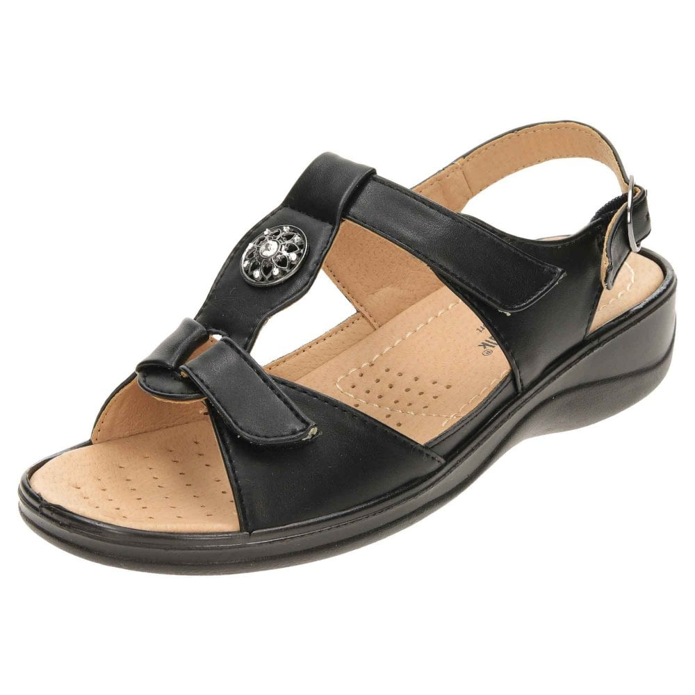 2b49190e0d5 Cushion-Walk Comfort Open Toe Slingback Wedge Sandals - Ladies ...