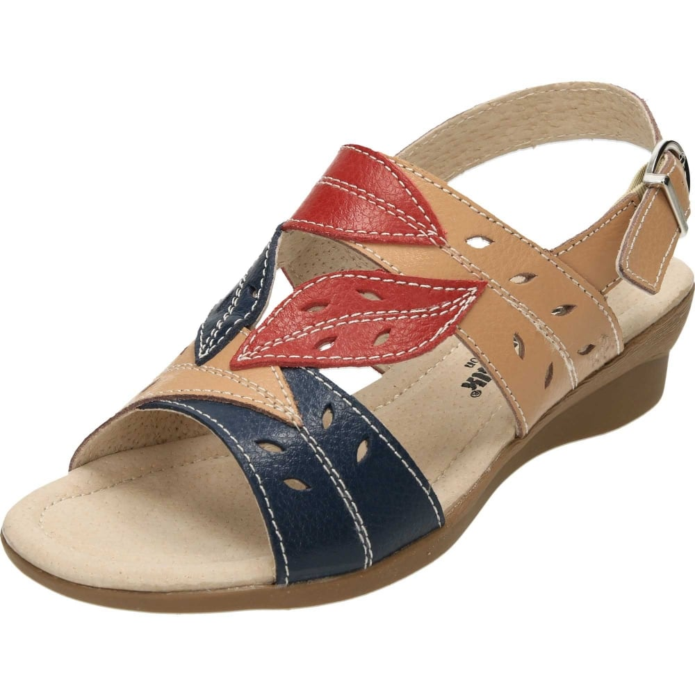3d3f84f5893 Cushion-Walk Leather Slingback Wedge Flexible Open Toe Sandals - Ladies  Footwear from Jenny-Wren Footwear UK