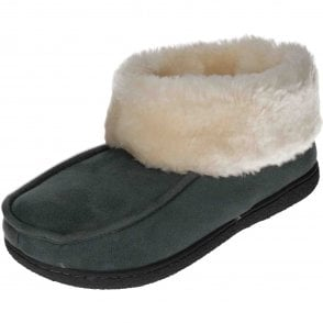 2ab0d7f52c52 Dunlop Warm Lined Slipper Ankle Booties Wide Fit - Ladies Footwear ...
