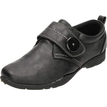 Black Flat Rip Tape Casual Comfort Shoes