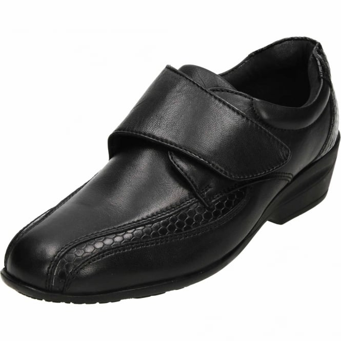 Dr Keller Black Leather Comfy Shoes