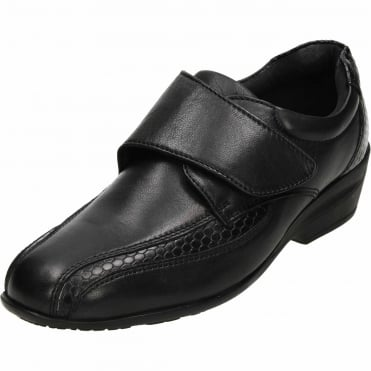 Black Leather Comfy Shoes