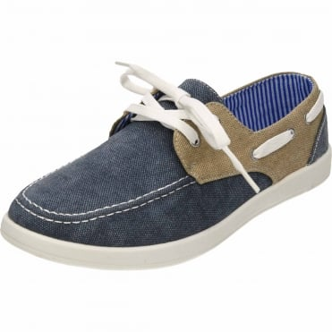 Canvas Lace Up Deck Shoes