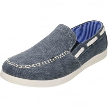 Canvas Slip On Twin Gusset Deck Shoes