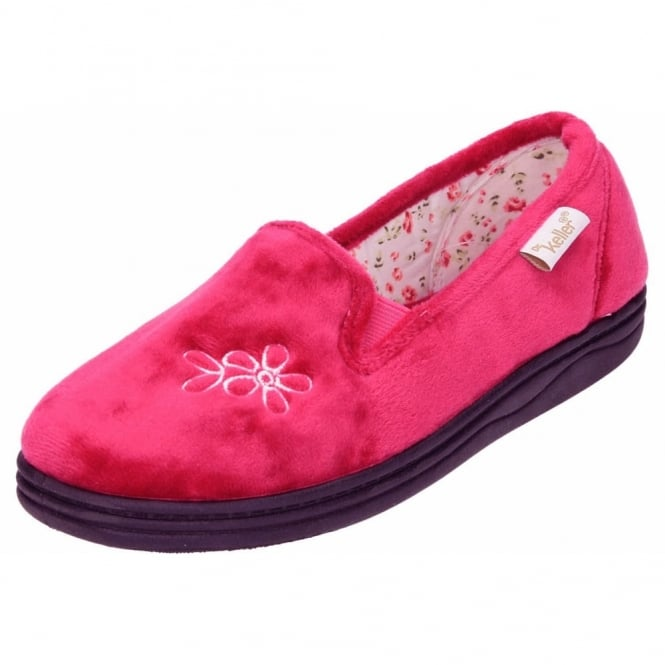 Dr Keller Ladies Machine Washable Slippers House Shoes