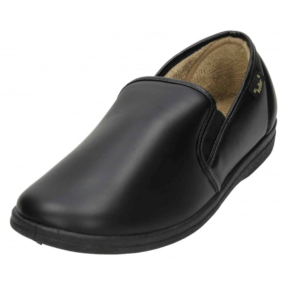 Dr Keller Mens Cosy PU Slippers House