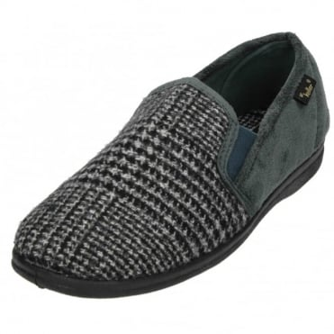 Mens Faux Suede Textile Cosy Slippers House Shoes