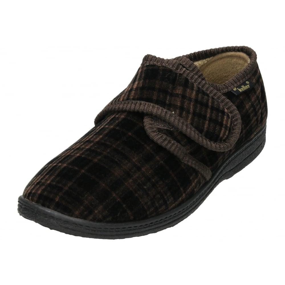 dr keller mens hook loop fastening slippers house shoes