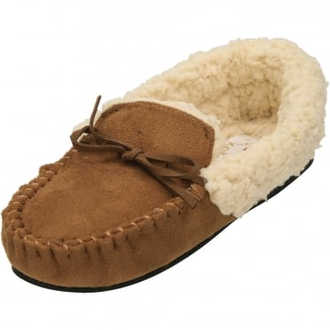 Moccasin Warm Lined Slippers Ladies