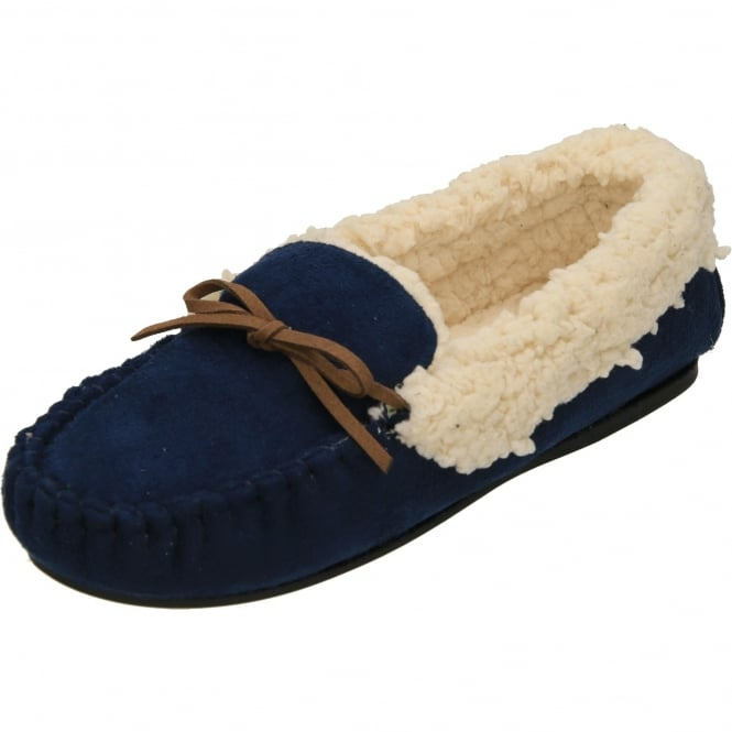 Dr Keller Moccasin Warm Lined Slippers Ladies