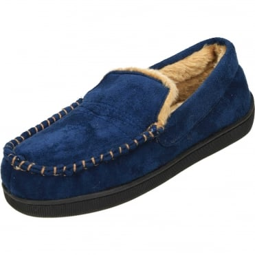Moccasin Warm Lined Slippers