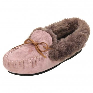 a4bcf28be03c Plush Warm Moccasin Slippers House Shoes