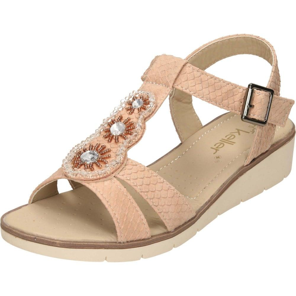 e42c79bbb8e Dr Keller Slingback Wedge Low Heel Open Toe Sandals - Ladies ...