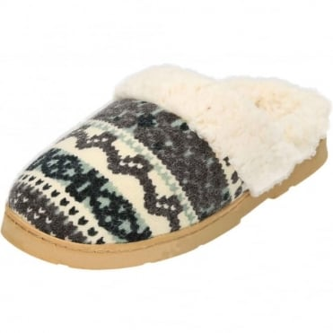 Warm Lined Slip On Slipper Mules