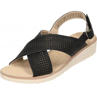 Wedge Heel Open Toe Cross Strap Sandals