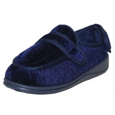 Memory Foam Navy Blue Burgundy Washable Slippers