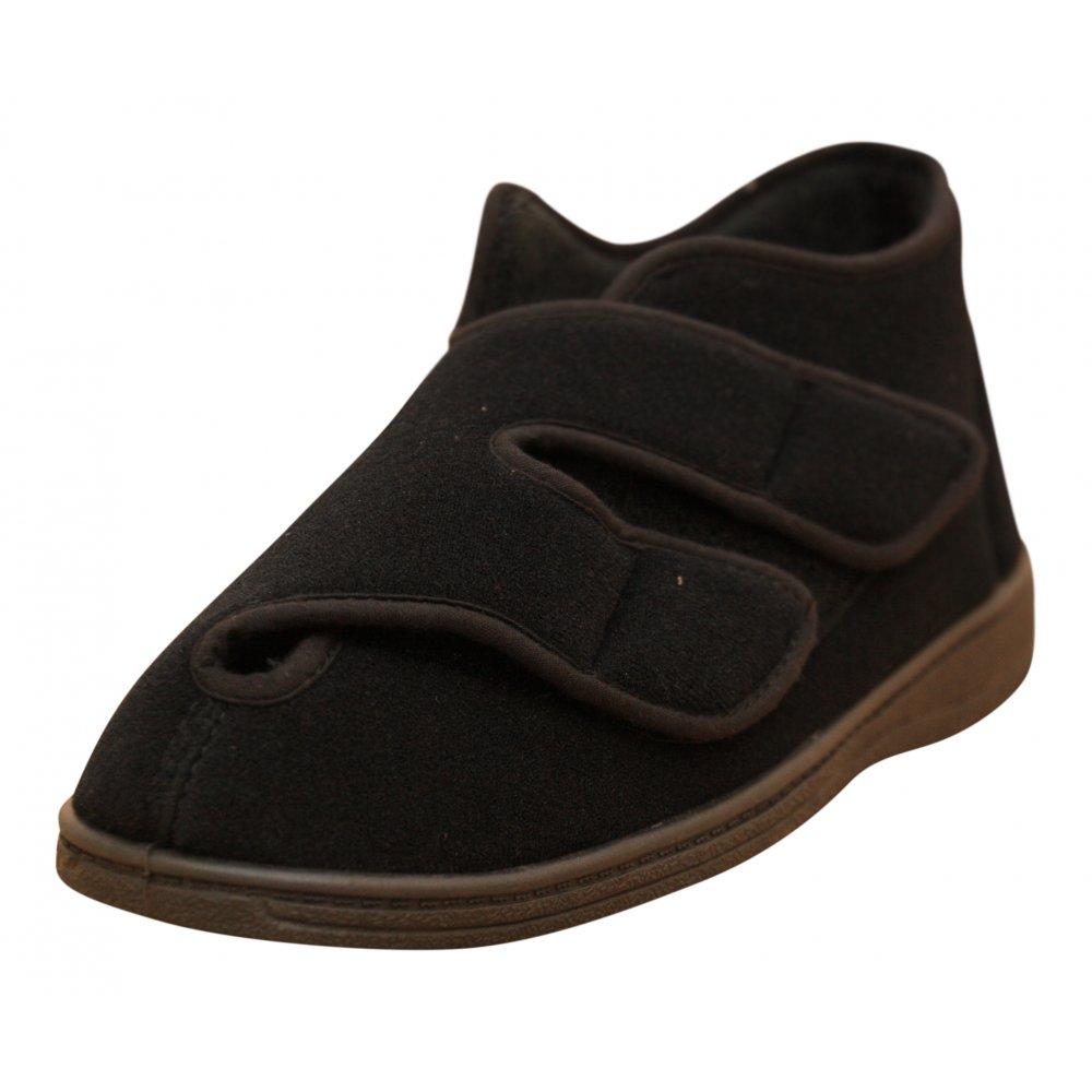 Mens Zipper Boots Indoor Outdoor Slipper Shoes
