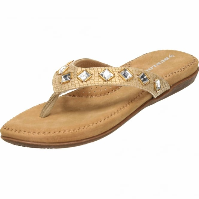 ff9126d59d7a5f Dunlop Ladies Flip Flops Toe Post Slip On Flat Sandals - Ladies ...