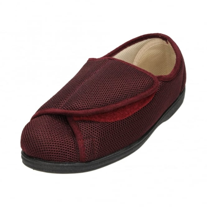 Dunlop Ladies riptape fastening Lightweight Slippers Shoes