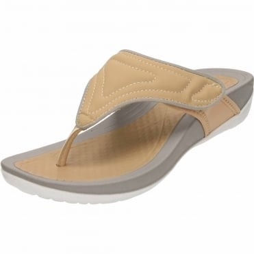 Ladies Wedge Flip Flops Toe Post Cushioned Slip On Sandals