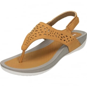 Ladies Wedge Slingback Toe Post Cushioned Sandals