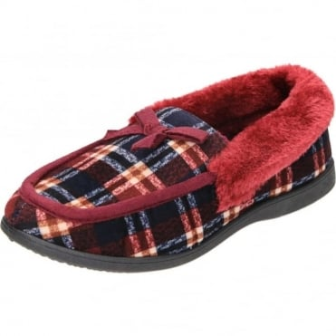 Mocassin Slippers Faux Fur Collar House Shoes