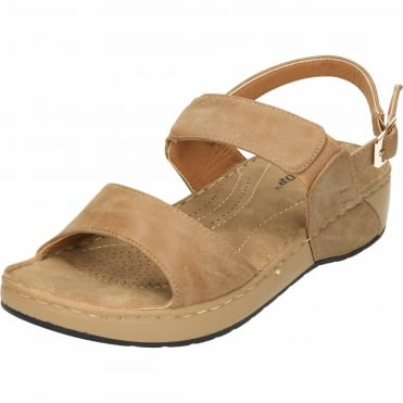 Slingback Wedge Cushioned Flat Sandals