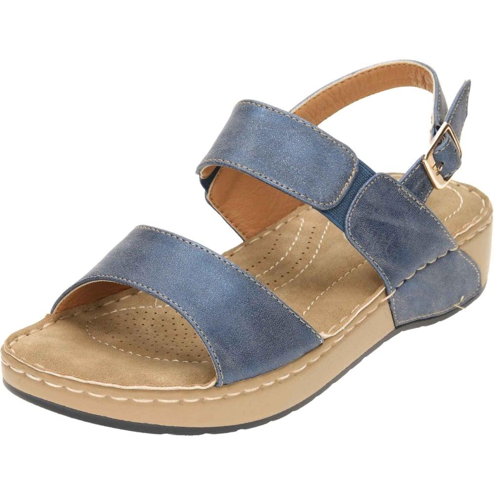 7d6f93b6daf Dunlop Slingback Wedge Cushioned Flat Sandals - Ladies Footwear from ...