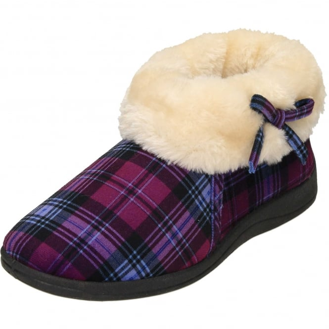 ae3484286e9c Dunlop Warm Lined Slipper Ankle Booties Wide Fit - Ladies Footwear from  Jenny-Wren Footwear UK