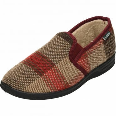Warm Lined Twin Gusset Slippers