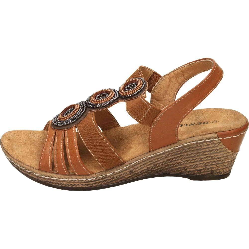 954fefa5e12 Dunlop Wedge Heel Slingback Cushioned Sandals - Ladies Footwear from ...