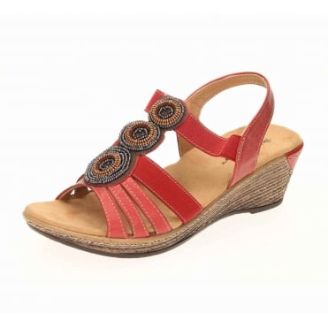 Wedge Heel Slingback Cushioned Sandals