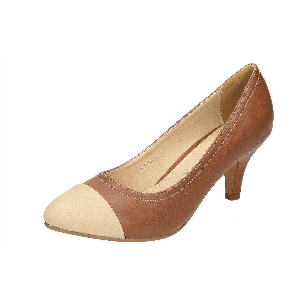 emilio luca x brown beige toe mid high heel court wedding office shoes ladies footwear from. Black Bedroom Furniture Sets. Home Design Ideas