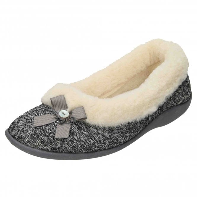 Four Seasons Slip On Plush Slipper Ballerina House Shoe