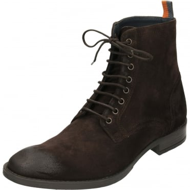 Birch Leather Lace Up Suede Ankle Derby Boots